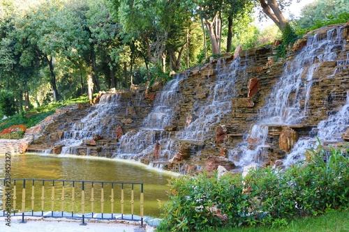 Landscape view of Yildiz Park in Besiktas, Istanbul.