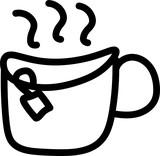 Tea Doodle Drawing Vector Hand drawn Sketch Illustration