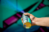 Graffiti art spray painting action © alferreira