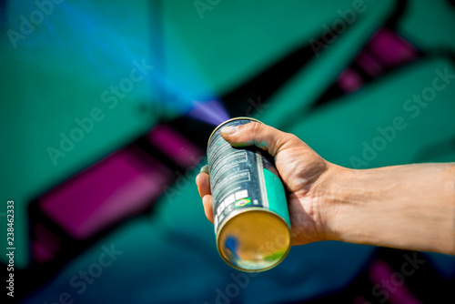 Graffiti art spray painting action - 238462333