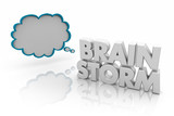 Brainstorm Thought Cloud Think of Good Ideas 3d Illustration - 238484362