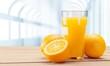 Quadro Orange juice and slices of orange on