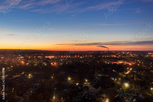 Evening city Petrozavodsk