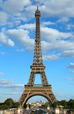 perfect poster of the Eiffel Tower in Paris in France vertically