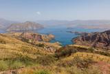 Landscape with Nurek Reservoir near Dushanbe in Tajikistan