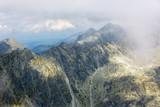 rocks on mountain ridge