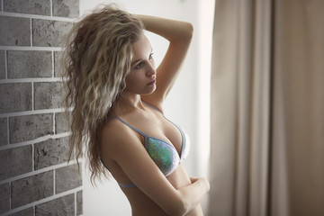 Beautiful young girl. Lovely blonde