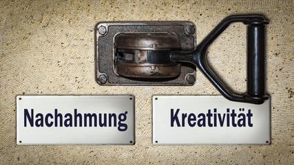 Schild 354 - Kreativität © Thomas Reimer