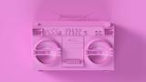 Pink Retro Boombox 3d illustration 3d render - 238585729