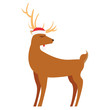 reindeer hat on white background