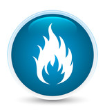 Fire icon special prime blue round button