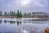 Foggy wintermorning at lake - 238613967