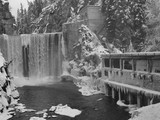 old hydro electric plant in the winter