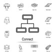 Connection PC icon. Detailed set of computer part icons. Premium graphic design. One of the collection icons for websites, web design, mobile app