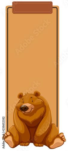 A bear on blank template