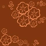 semaless-pattern-flower-dark-orange