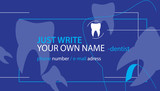 Dentist Business Card Design. Vector Illustration.