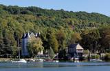 Vernon village and Seine river in Normandy