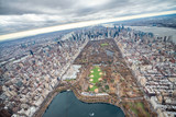 Aerial view of Central Park and New York City from helicopter - 238689198
