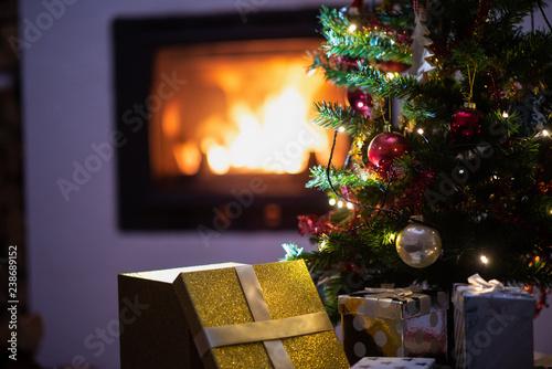 Foto Murales Christmas holiday season scene