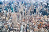 Helicopter view of Midtown Manhattan, New York City - 238689379