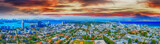 Miami, aerial view of city skyline from a park - 238689541