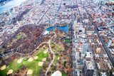 Aerial view of North Central Park and Uptown Manhattan, New York City - 238690929