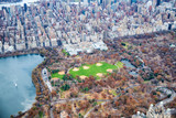Metropolitan Museum Of Art and Central Park aerial view in autumn, New York City from helicopter - 238691598