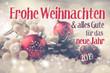 Leinwanddruck Bild - Christmas and New Year Greeting Card Winter 2018 - 2019
