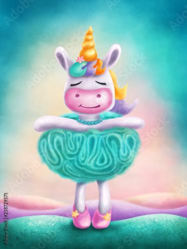 Illustration of a cute unicorn - 238729371