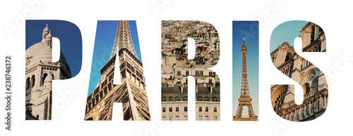 Paris France collage - 238746372