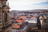Elevated view of the city of Budapest from St. Stephen's Basilica, Hungary