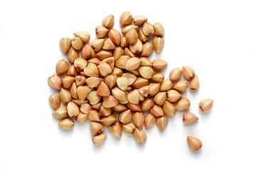 buckwheat grain isolated © MIGUEL GARCIA SAAVED