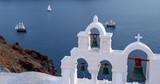 Santorin Segelschiffe mit Kirche Panorama