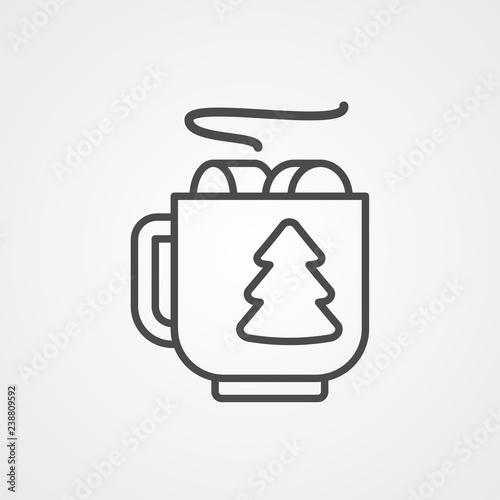 Mug vector icon sign symbol