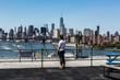 Girl Watching New York Sky line
