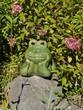 Froschfigur im Garten