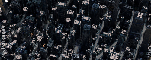 a layout of the city of the future 3d render - 238826396