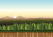 A flat nature landscape - 238826575