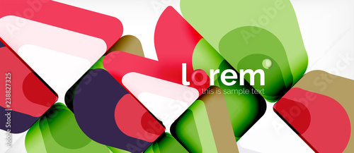 Abstract background multicolored geometric shapes modern design - 238827325