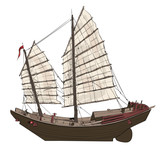 Old chinese junk - 238882974