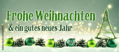 Weihnachtskarte 2019  -  Frohe Weihnachten und ein gutes neues Jahr - 238886189