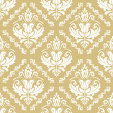Orient vector classic pattern. Seamless abstract yellow and white background with vintage elements. Orient background. Ornament for wallpaper and packaging - 238891520