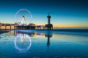 ferris wheel on the Pier at Scheveningen at sunset © GAPS Photography