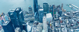 Downtown Manhattan and Jersey City as seen from the helicopter - 238933556