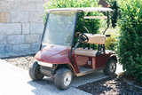 Golf buggy parked