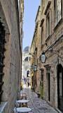 Fototapeta Przestrzenne - A small colorful street town of Dubrovnik, Croatia. © Rosen