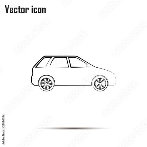 Car Icon. Line icon - 238961186