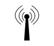 wireless network icon on white background
