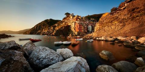 Riomaggiore of Cinque Terre, Italy - Traditional fishing village in La Spezia, situate in coastline of Liguria of Italy. Riomaggiore is one of the five Cinque Terre travel attractions.  © Jakub